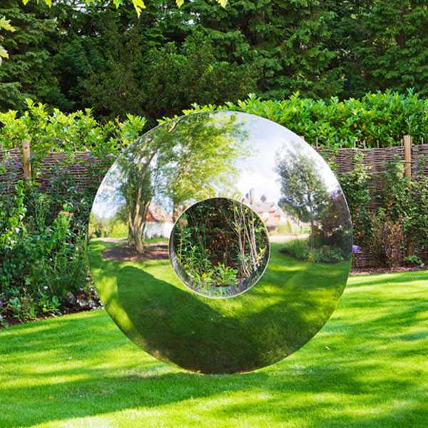 Outdoor Water droplets mirror stainless artwork Sculpture for decor