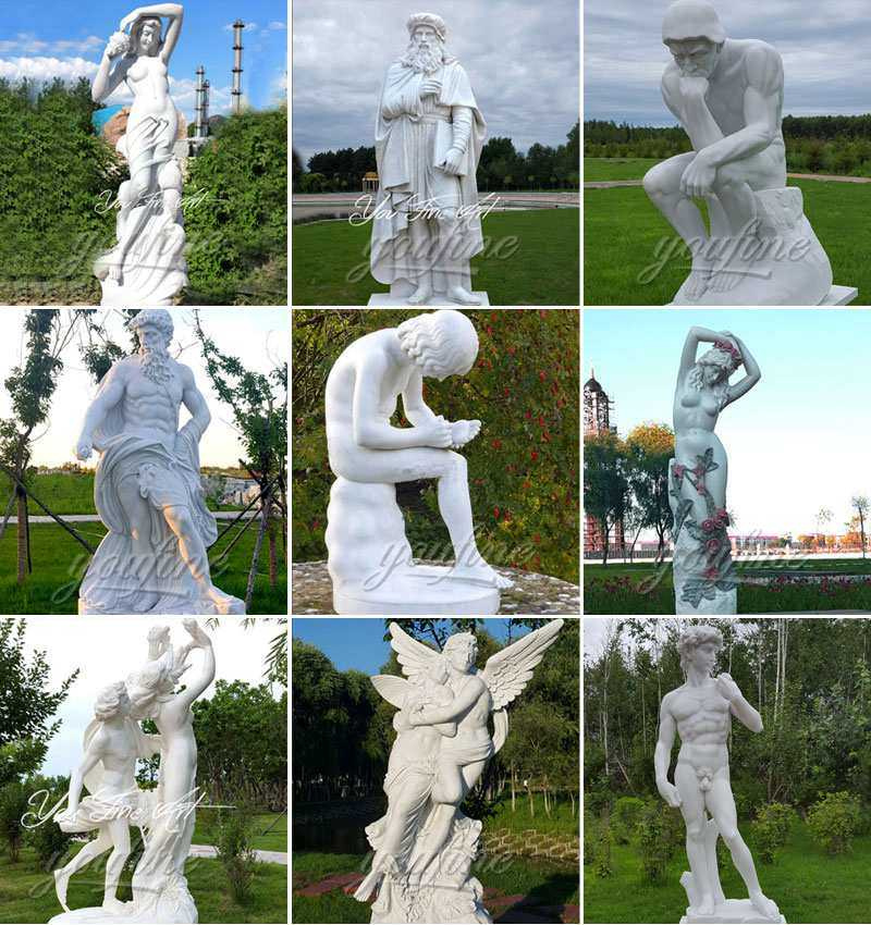 Famous marble sculptures of Boy with thorn statue