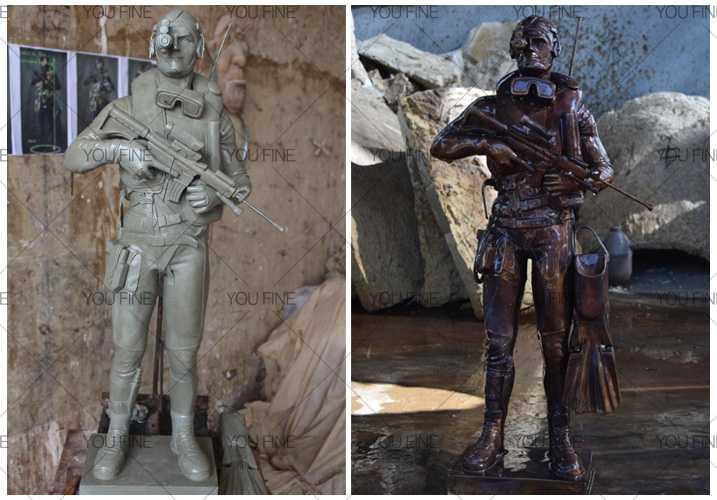 Future Warrior statue