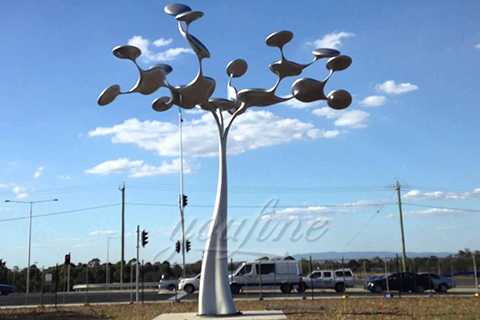 2019 Hot Selling Outdoor Garden Art Tree 316 Stainless Steel Sculpture for sale