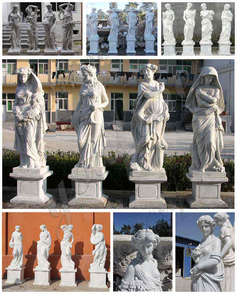 Garden Four Seasons Marble Statues for Sale