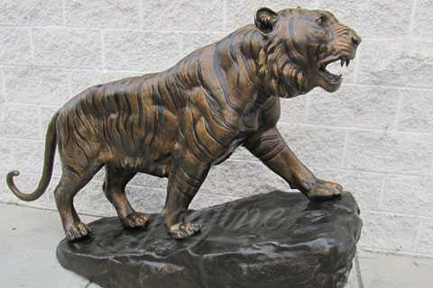 Garden decoration bronze animal craft metal tiger statue