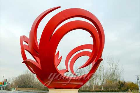 High Quality Flower Stainless Steel Sculpture for sale