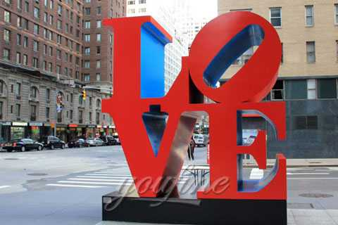 Large romantic stainless steel love sculpture in stainless steel for sale CSS-43