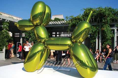 Large Outdoor Modern Metal Sculpture balloon dog in Stainless Steel for sale