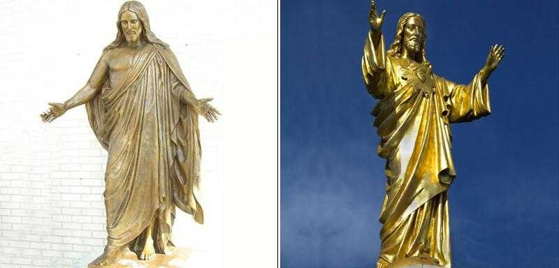 Large bronze religious statues of life size jesus open arms designs for sale