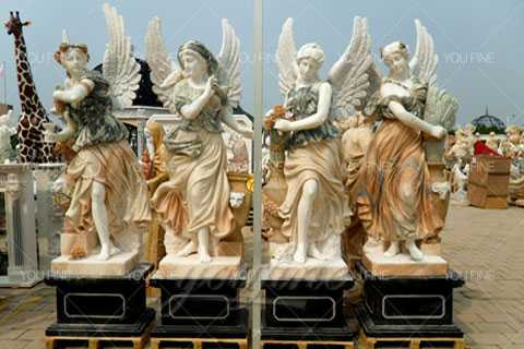 Outdoor Life Size Set Of Four Seasons Statues Beauty For