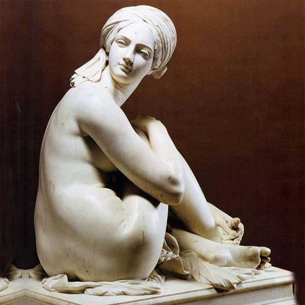 Life size famous hand carved marble art figure James Pradier's Odalisque replica for sale