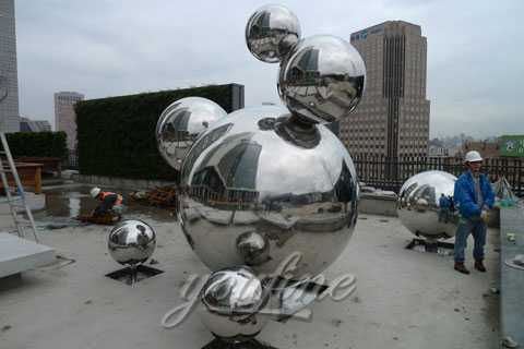Modern China Outdoor Abstract Sculpture in Stainless Steel for Decor