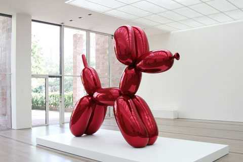 Modern Outdoor Stainless steel red metal balloon dog sculpture for sale