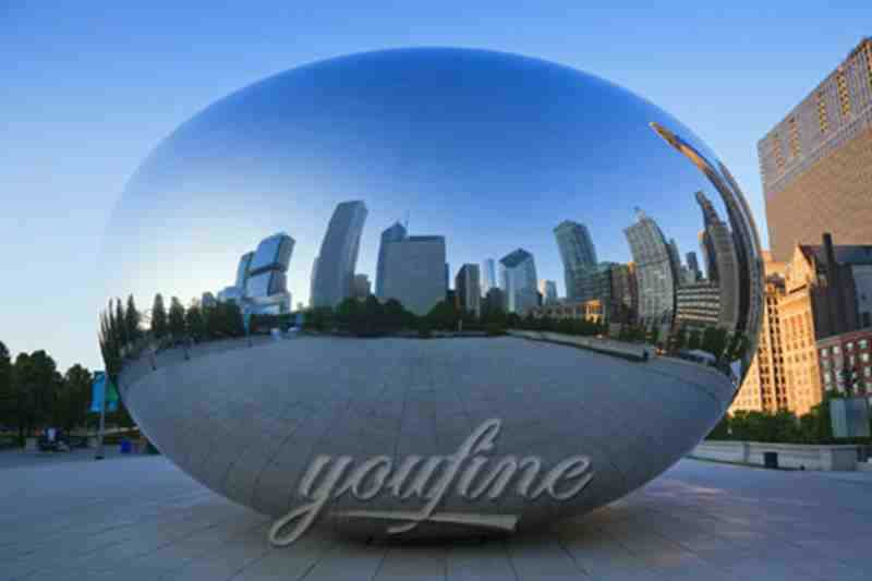 Outdoor-Mirror-polished-Large-Stainless-Steel-Sculpture-for-Sale