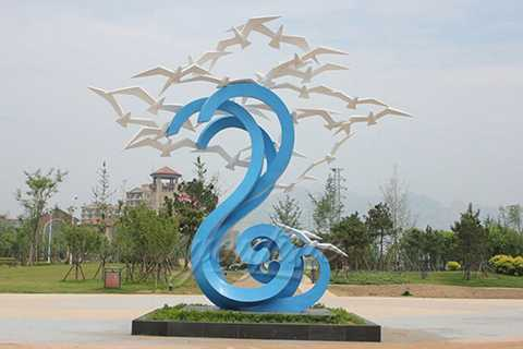 High quality stainless steel bird sculpture for sale