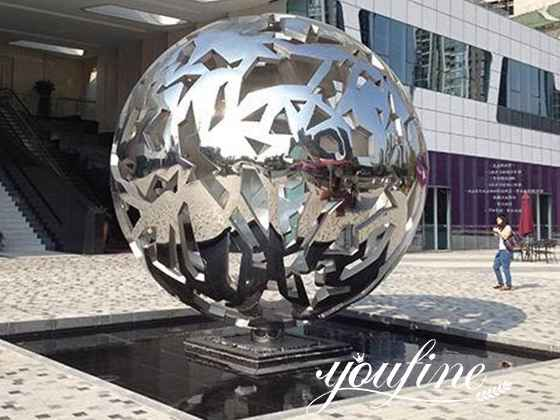 Stainless Steel Ball Sculpture for Outdoor for