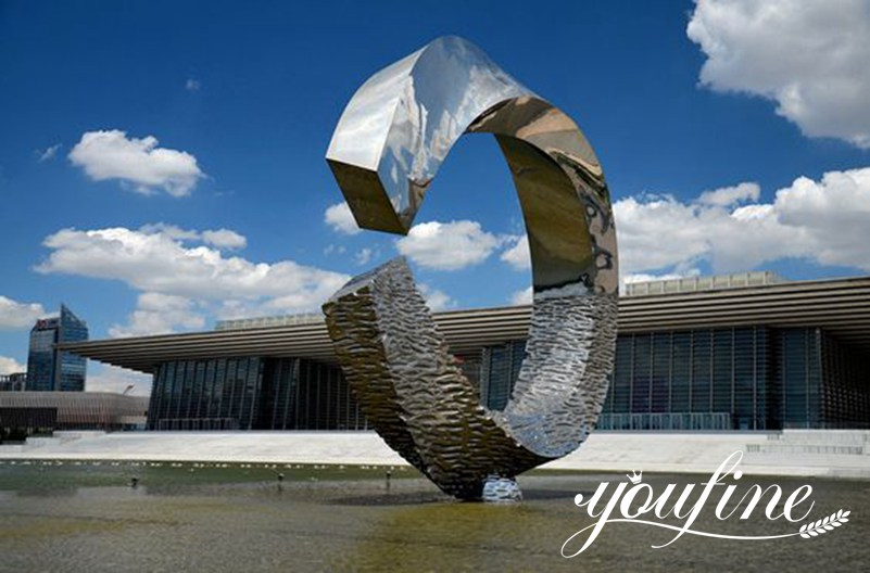 """Stainless steel sculpture""""noon at water"""""""