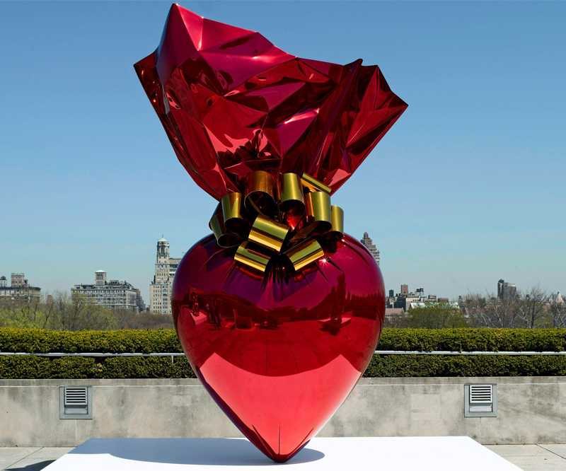 famous jeff koon art heart design home decor for sale