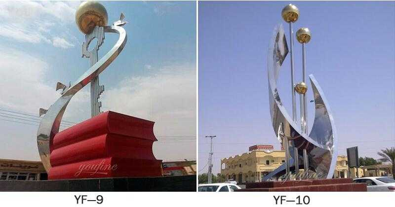 famous metal sculptures UAE