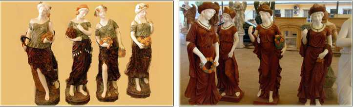 four seasons statues for garden Design Toscano