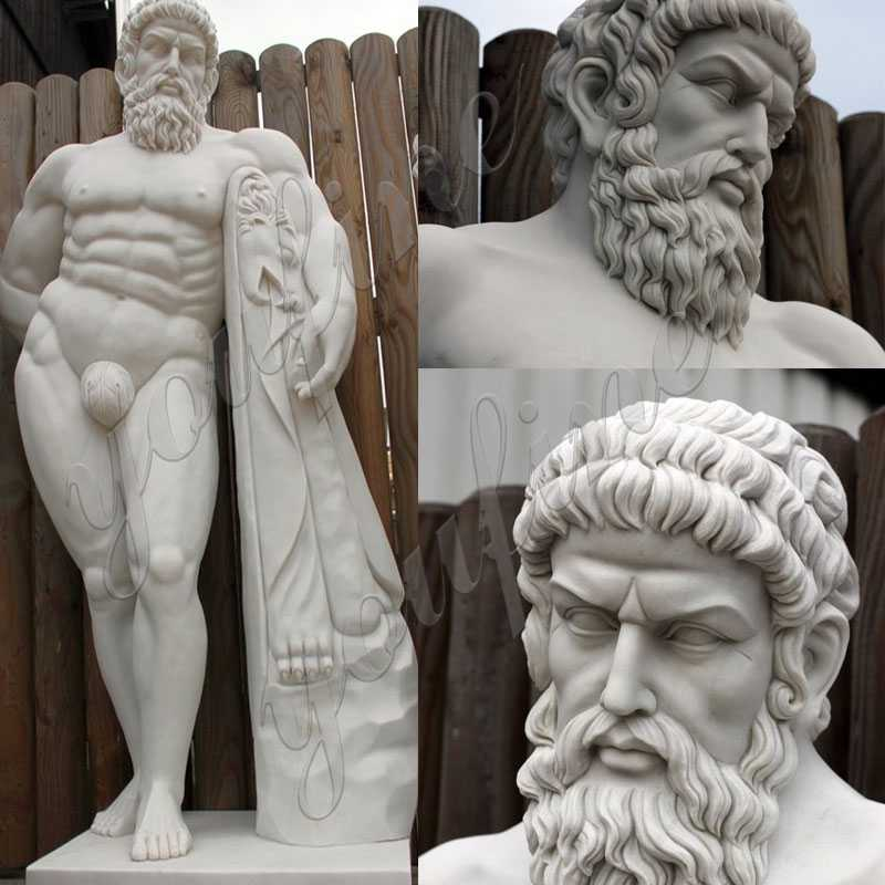 life size famous stone marble Hercules statues for sale
