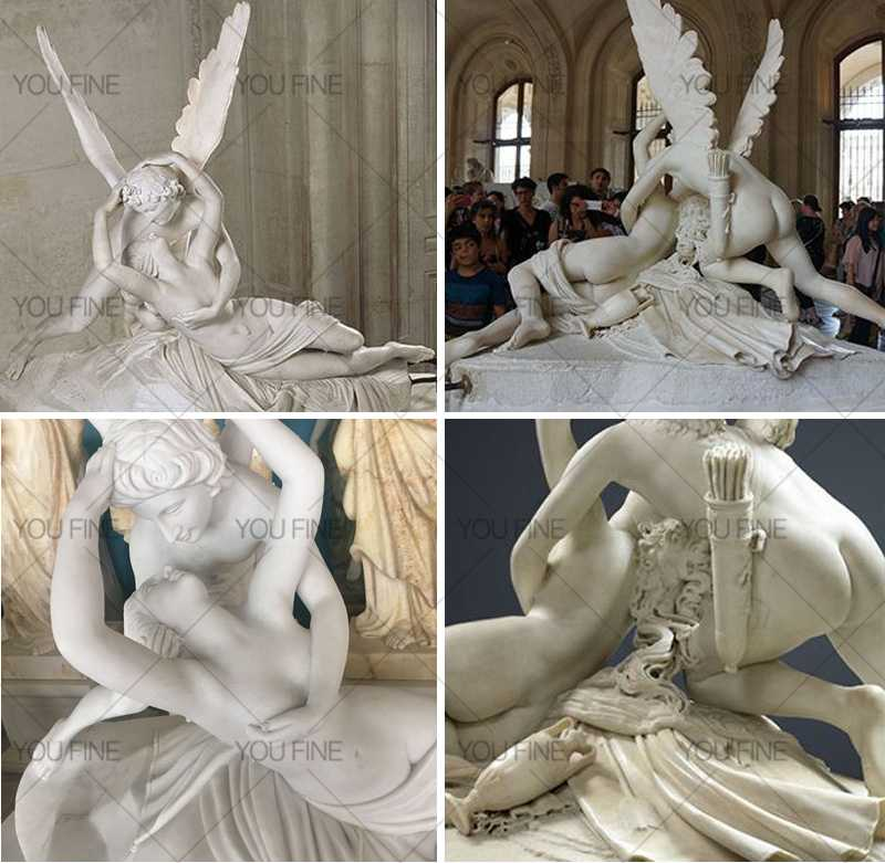 marblecupid and psyche statue