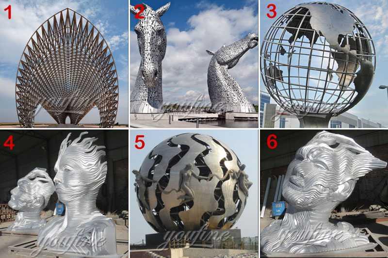 metal sculpture stainless steel bust sculpture
