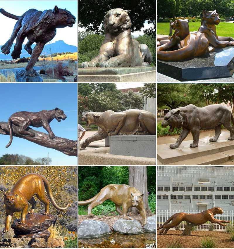 outdoor leopard statue