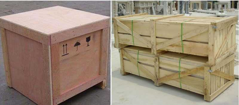 Inside: Soft plastic foam Outside: Strong fumigated wooden cases & iron Crate