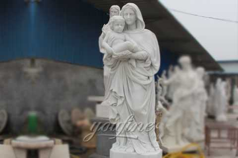 Outside religious mary and baby jesus marble sculptures for sale