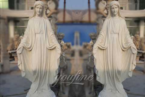Catholic life size marble mary statues for garden