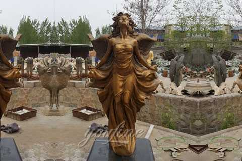 Amazing sexy angels bronze statues for sale