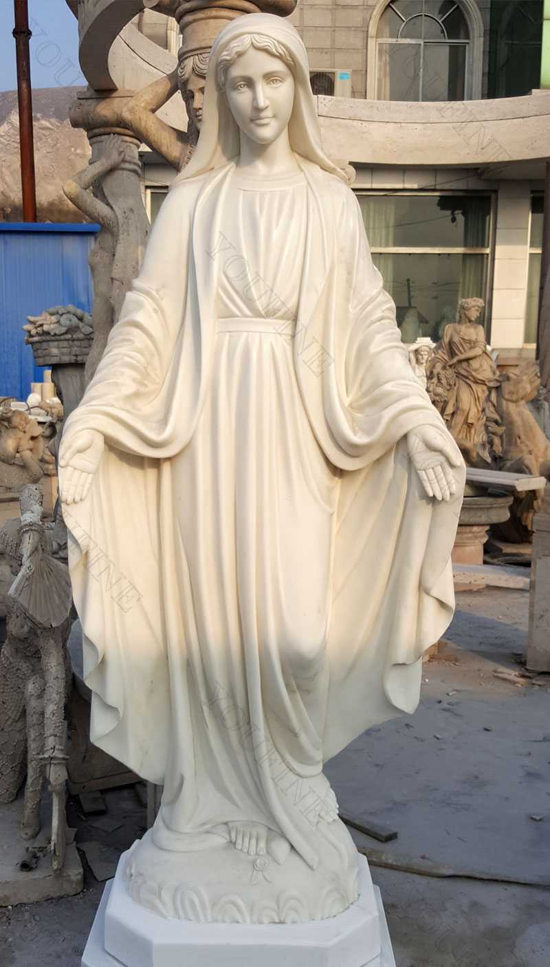 Catholic life size marble mary statues for garden designs