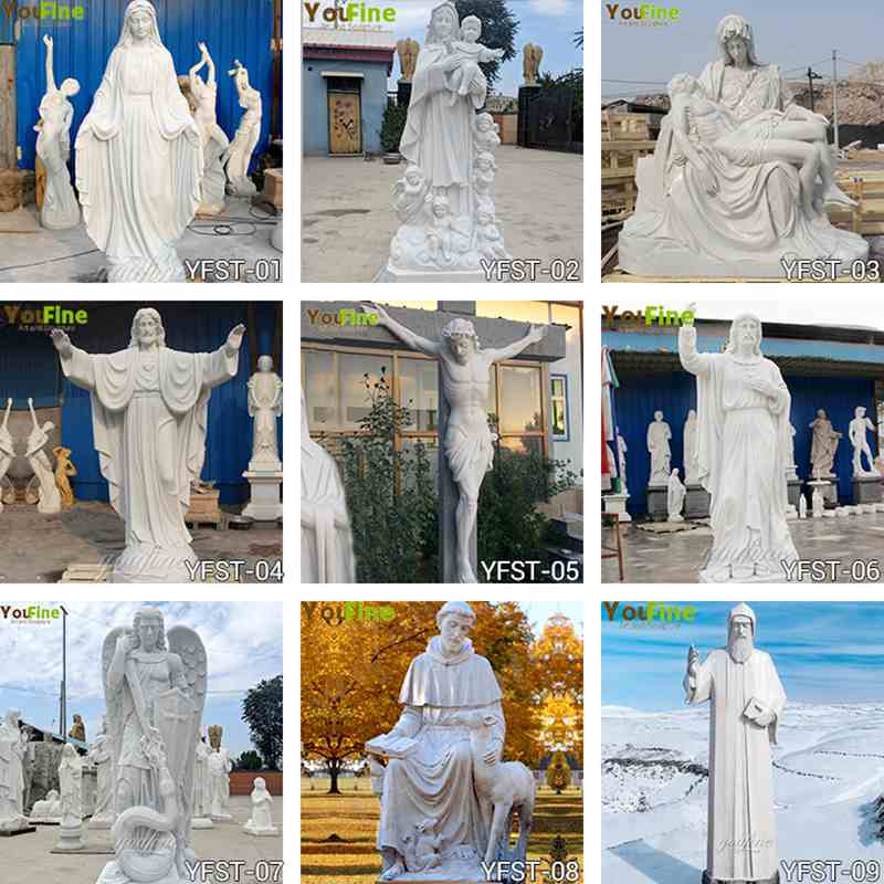 Classic Catholic Marble Statuesfor Garden for Sale