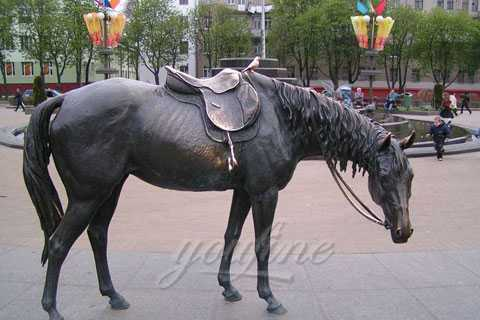 Factory Direct Supply Hot Sale Life Size Bronze Standing Horse Statues–BHS-043