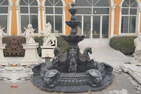 Hot Selling Outdoor pure white tiered water lion statue fountains with beautiful woman