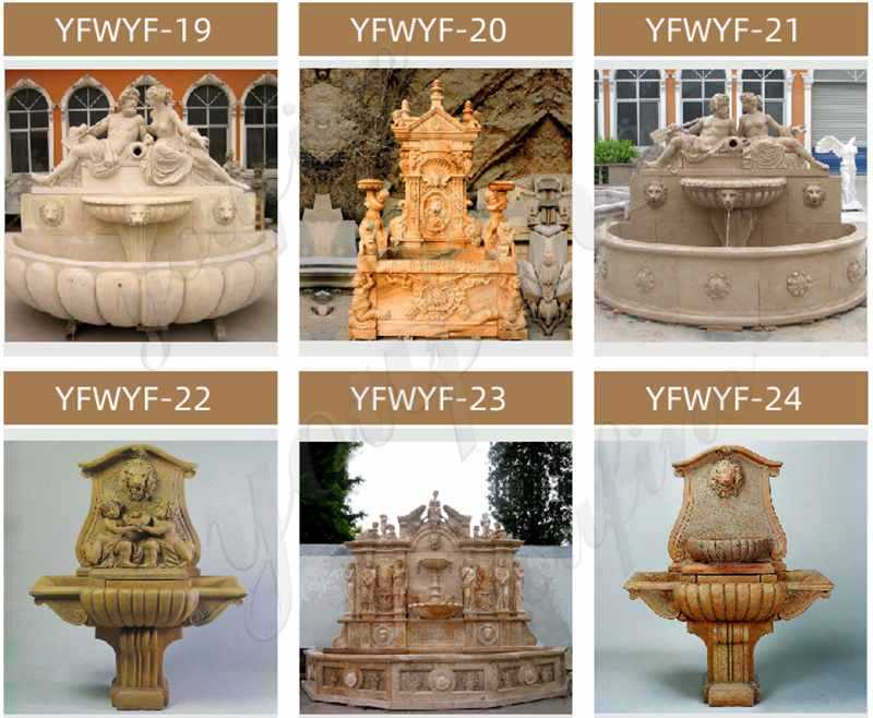 Marble tiered design garden wall fountain