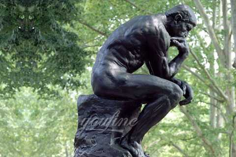 Outdoor Famous Classic Bronze The Thinker Statue for garden decor