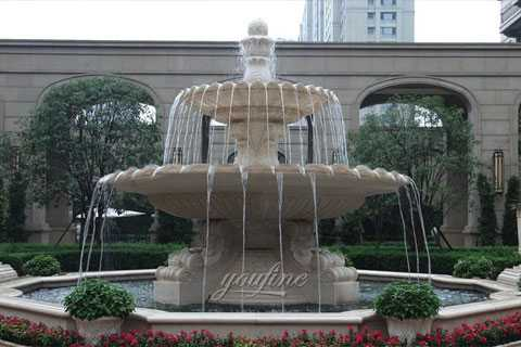 Outdoor antique marble tiered waterfall fountains for hotel on hot selling