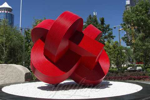 Stainless steel Chinese knot sculpture modern abstract sculpture for decoration on sale SSS-083