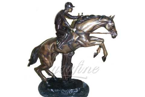 Outdoor ornamental Bronze Equestrian Horse