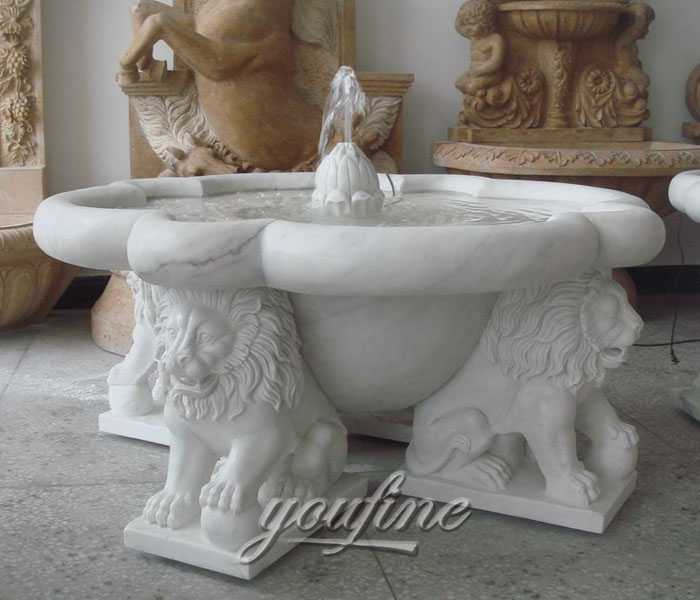 Outdoor small classical lion water garden fountains design for indoor decoration