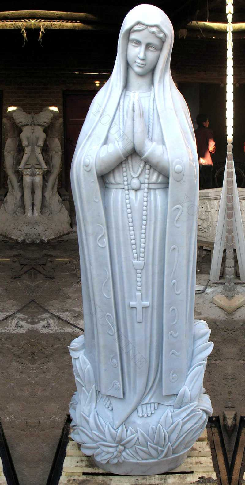 Religious sculptures of our lady of fatima statues for outside designs