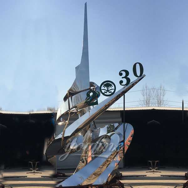 Stainless steel sculpture for outdoor for client from Saudi Arabia CSS-34