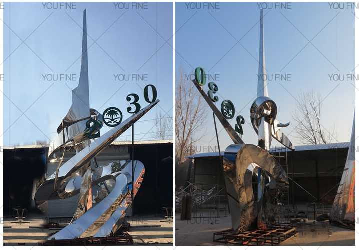 Stainless steel sculpture for outdoor for client from Saudi Arabia (2)