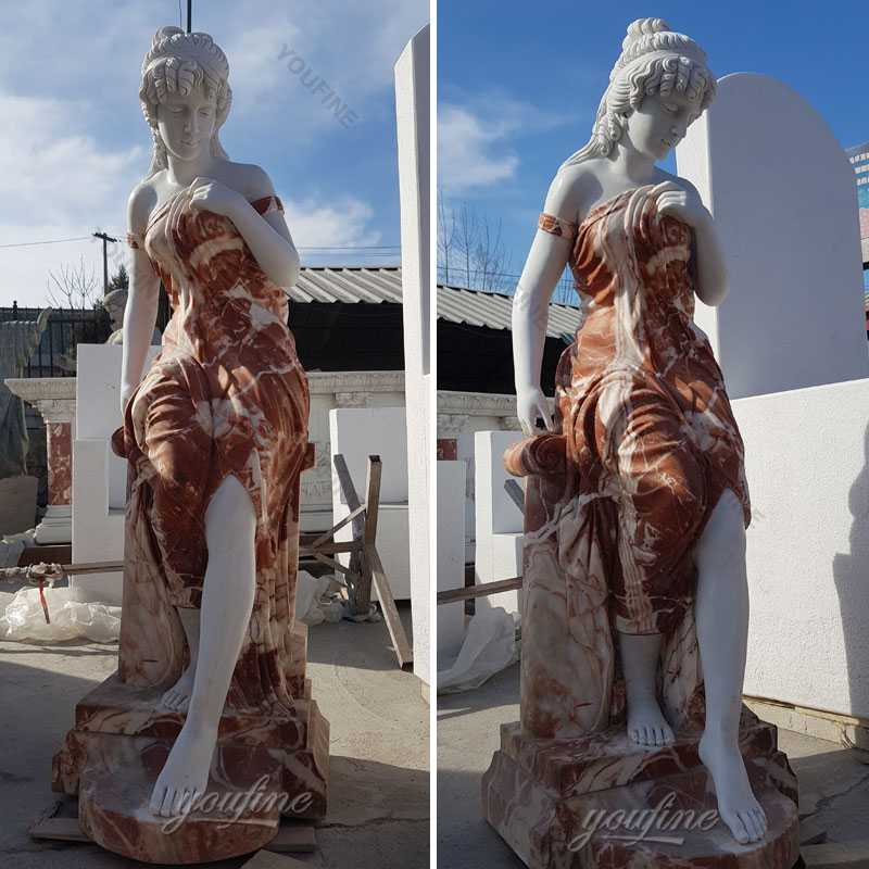 The stocked human size marble woman statues on discount designs