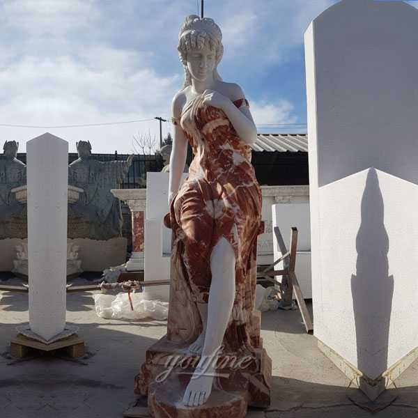 The stocked human size marble woman statues on discount