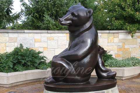 Wholesales antique bronze black animal sculpture bear statue for sale