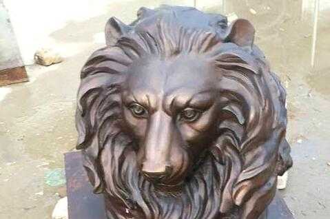 Bronze large lion statues outdoor for sale
