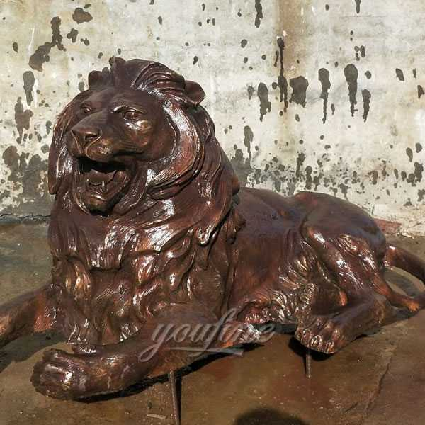 Large Bronze Lion Statues For Home Decor At Entrance You