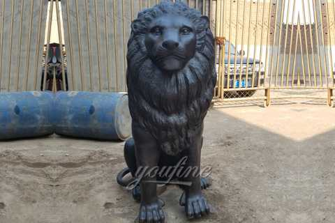 Large bronze lion statues for sale