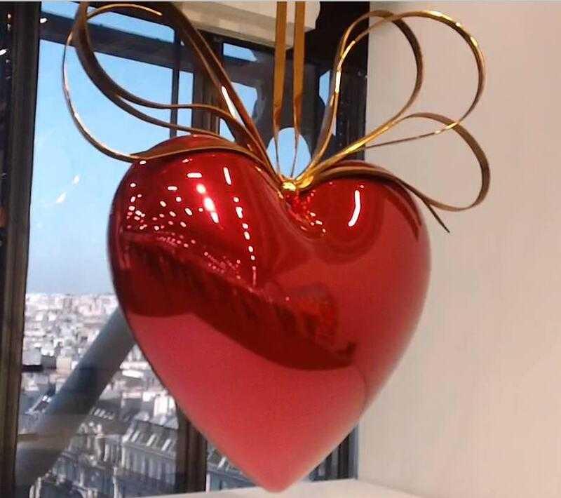 famous jeff koon art heart designs home decor for sale