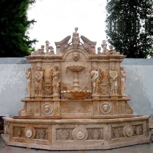 large beige wall water outdoor fountain for sale